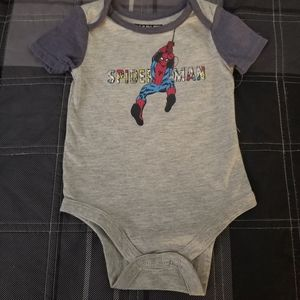 NWOT Marvel Spiderman Baby Boy Bodysuit Size 6-9M